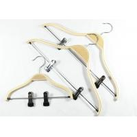 Buy cheap Metal Clips Attached Wooden Clothes Hangers Garment Industrial Usage from wholesalers