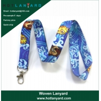 Quality Polyester Lanyard with Detachable BucklePersonalized Heat Transfer Polyester Lanyards with Logo Custom Sample Free for sale