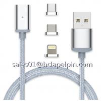 Buy cheap 3 in 1 Metal Connector Dustproof Plug Braided Magnetic USB Lightning Cable for iPhone 7 /Android, Samsung S7 from wholesalers