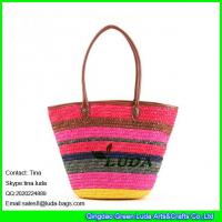 Buy cheap LUDA colorful beach necessary hawaii wheat straw playmates straw bag from wholesalers