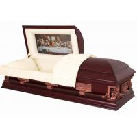Wholesale Last Supper Pattern Wooden Caskets SWC06 In Poplar Materail And Velvet Interior from china suppliers