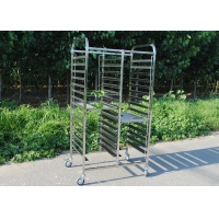 Buy cheap SGS 1.2mm Stainless Steel Tray Rack Trolley With Heat Resisting Wheels from wholesalers