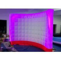 Wholesale 3 Meter Led Inflatable Wall 210 D Reinforce Oxford Material Logo Printing from china suppliers