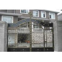Buy cheap Courtyard Decorative Wrought Iron Gates Heat Treated Automatic / Manual Opening from wholesalers