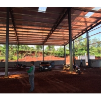 Buy cheap 110mm Downpipe Prefabricated Steel Structure Warehouse from wholesalers