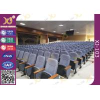 Buy cheap Upholstery Cold-rolled Steel Footrest Auditorium Theater Seating With Writing from wholesalers