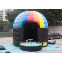 Buy cheap Kids N adults music party disco dome bounce house with light hook made of best pvc tarpaulin from wholesalers