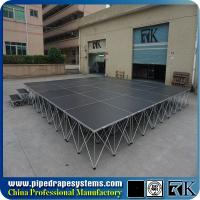 Buy cheap On sale China factory price portable stage with aluminum riser from wholesalers