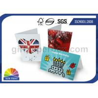 Buy cheap Custom Festival Greeting Cards Printing Service for Birthday Cards with Art Paper from wholesalers