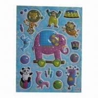 China 3-D PVC Stickers with Removable Glue, Empty Inside but Embossed, Eco-friendly on sale