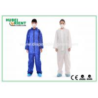 Protective Safety Blue Disposable Coveralls for Men , Eco Friendly Durable Manufactures