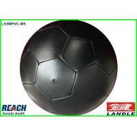 Black PVC Leather Soccer Balls / Adult Size Soccer Ball Customizable Manufactures