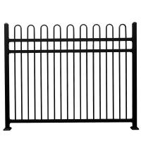 Buy cheap Hot sale tubular steel fence metal fence spikes  different colors from wholesalers