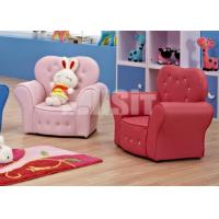 Buy cheap Princess Crown PVC Leather Childrens Sofa Chair No Assembly Required Top Grade from wholesalers