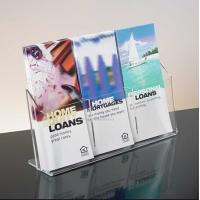 Buy cheap Exquisite Clear Acrylic Holder Stand For Brochure Display , 3 Pocket from wholesalers