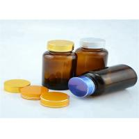 Buy cheap Wide Mouth 120cc Amber Pill Bottles Seal Metal Lid For Long Distance Travel from wholesalers