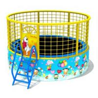Buy cheap Outdoor Small Trampoline With Net , Kids Playground Equipment Compact Structure from wholesalers
