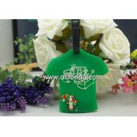 Wholesale T-shirt shape pvc luggage tag custom personalized fashion boarding travel luggage tag supply from china suppliers