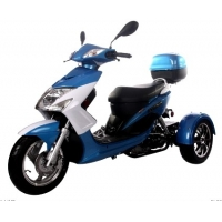 Buy cheap Brand New 50cc Elf Trike Scooter Moped  Air Cooled Fuel Economy: 84 mpg from wholesalers