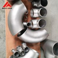 Wholesale Long Radius Titanium Elbow 45 90 180 Degree Gr2 Gr7 Gr12 Welded Type from china suppliers
