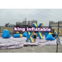 Buy cheap Strong Blue / Yellow Inflatable Floating  Paintball Sport Games Blindage Durable from wholesalers