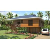 Buy cheap Heat Insulation Prefab Home Beach Bungalows , Customized Light Steel Bungalow product
