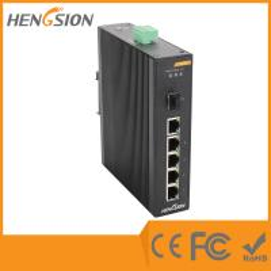 Wholesale 5 Megabit TX Port / 1 Gigabit SFP FX 5 Port Industrial Ethernet Network Switch / 5 Port Poe Switch from china suppliers