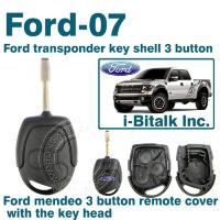 Buy cheap Ford transponder key shell 3 button from wholesalers