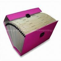 Buy cheap Expanding File Folders, Suitable for A4, Made of Paperboard from wholesalers