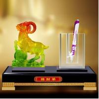 Buy cheap 2015 sheep desktop gifts with crystal pen holder from wholesalers