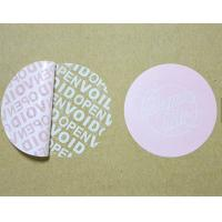 Buy cheap Tamper Proof Security Tape , Warranty Void Labels For Outer Cartons from wholesalers