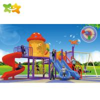 Buy cheap Outside Playground Plastic Children 'S Slide Swing With Play House from wholesalers