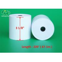 Buy cheap Clear Caution Mark Printed Thermal Paper Rolls , 3 Thermal Receipt Paper High Compatibility from wholesalers