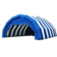 Buy cheap Blue And White Double Layer Outdoor Camping Inflatable Tents For Sale from wholesalers