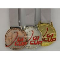 Buy cheap Custom Event Die Cast Medals , Antique Gymnastics Ribbon Medals from wholesalers