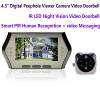 "Quality 4.3"" LCD Electronic Door Peephole Viewer Camera Home Security DVR Night Vision Video Doorbell Door Phone Access Control for sale"