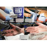 Buy cheap ISO White Viscose+pet,Microfiber,Woodpulp Oil Absorbent Industrial Use Spunlace Nonwoven Wipes from wholesalers