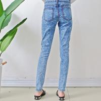 Buy cheap Size10-12-14-16-18 damaged patch women woven denim slim jeans from wholesalers