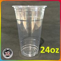 Buy cheap 24oz disposable PET plastic cup with flat lids and dome lids from wholesalers