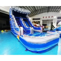 Buy cheap 1000D Playground Inflatable Water Slide Customized Size from wholesalers