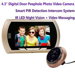 "4.3"" Digital Door Peephole Viewer Photo Video Camera Recorder Home Security Smart PIR Video Doorbell IR LED Night Vision Manufactures"