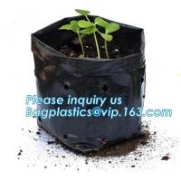 Buy cheap Wholesale Poly Black Square Garden Plastic Baby Flower Plant Nursery Poly Bags for Hydroponics,1gal 2gal 3gal 5gal 7gal from wholesalers