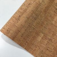 Buy cheap Slub Veins Cork Leather Fabric , Thin Cork Roll Non Smell Anti Microbial from wholesalers