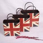 Buy cheap Home Decoration UK Flag Pattern Box Printing Faux Leather Magazine Basket Custom Wine Picnic Basket from wholesalers