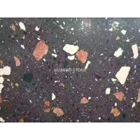 China Honed Flamed Terrazzo Stone Tiles Slab For Flooring Of Outdoor Plaza Hotel Stores on sale