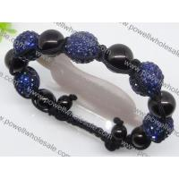 Buy cheap Fashion 2012 Shamballa beaded bracelets in blue and black 1760007 for Gift, Party, Wedding from wholesalers