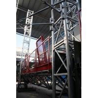 Buy cheap Outside Wall Painted Mast Climbing Work Platform  Rack and Pinion 3 phase  Washing from wholesalers