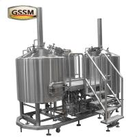 Electric Heated Brewhouse Stainless Steel Brewing Equipment For Brewery / Hotel Manufactures