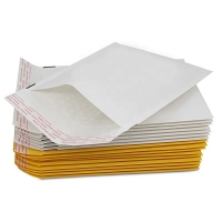 Buy cheap White Packaging Envelopes 104g/M² Self Seal Poly Waterproof Kraft Bubble Mailer from wholesalers