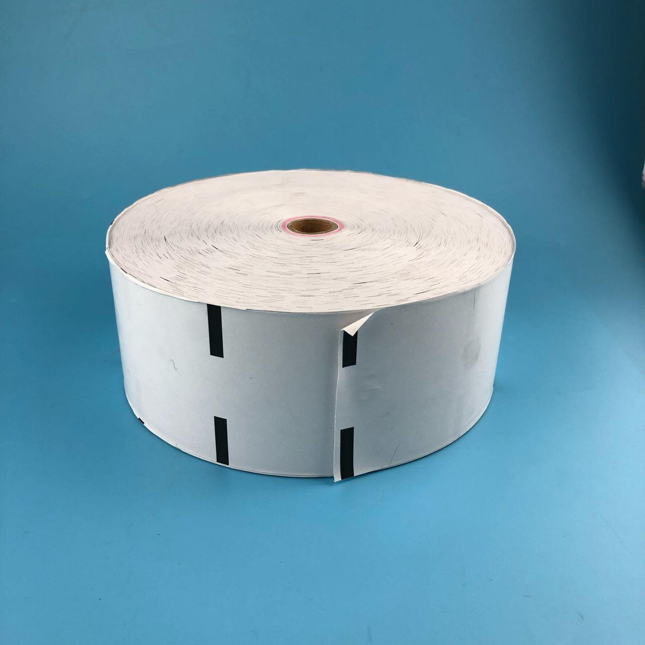 Buy cheap White Wincor Nixdorf ATM Parts 200*17*80 Thermal Receipt Rolls With Black Marker from wholesalers